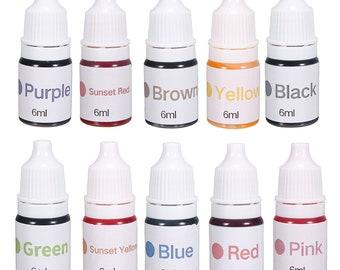 10 Colors Dyes Soap Making Coloring Set Liquid Colorant Kit for DIY Bath Soap Bomb