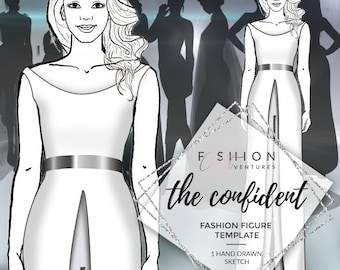 The Confident |  Fashion Template, Fashion Illustration, Croquis, Fashion drawing