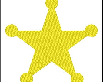 Sheriff Badge Cowboy Embroidery Design