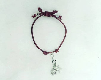 Knotted Bracelet with two charms