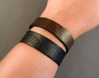Leather Bracelet-Leather Wristband-Leather Watchband-Brown Leather Cuff-Gifts Women-Women Leather Cuff-Leather Cuff-Men Cuff-Men Bracelet