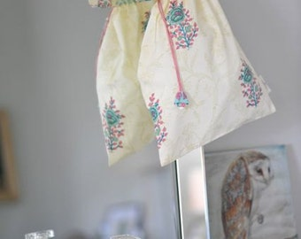 Pretty Cotton Blockprint Lingerie Bag