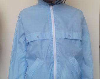 Baby blue 80's bomer jacket - small/medium