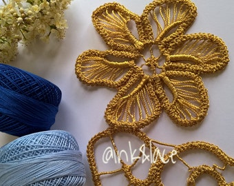 Instant Download Romanian Point Lace Flower