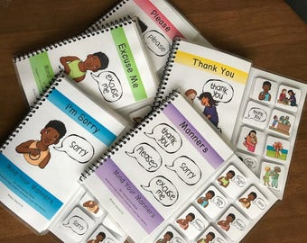 Mind Your Manners Adapted / Interactive Books for Special Education (set of 5 books)