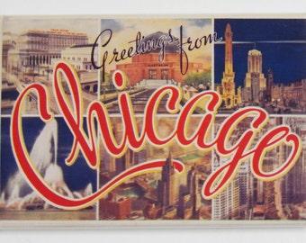 Greetings from Chicago Fridge Magnet
