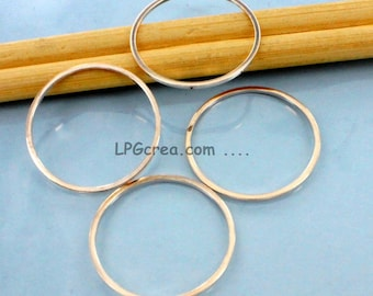 4 rings farms 24 mm - accessory of weaving Tisses #853 rings Rose gold jewelry