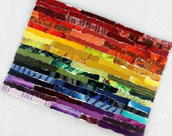 Rainbow flag, LGBT flag, rainbow flag art, gay pride flag, LGBT pride flag, gay pride, LGBT pride, pride gift, birthday gift, mixed media
