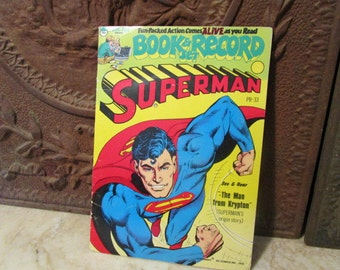 "Vintage 1978'', Superman "" story book and record set!"