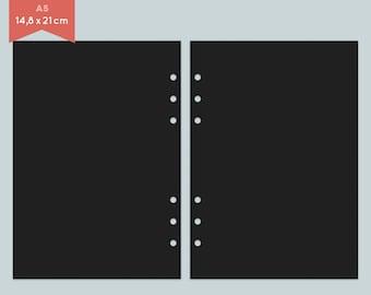 Notepaper Filofax - black - 25 Sheets - A5