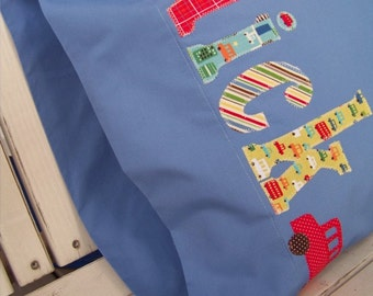 The Name Pillowcase Car Transportation Theme Embellished Pillowcase in Bright Primary Colors