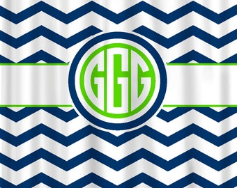Coupon 5OFF Custom Personalized Chevron Shower Curtain - your colors