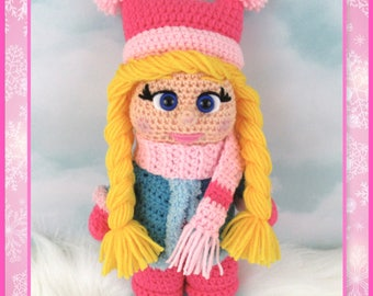 Winter Girl Amigurumi (PDF file only, this is not the finished doll)