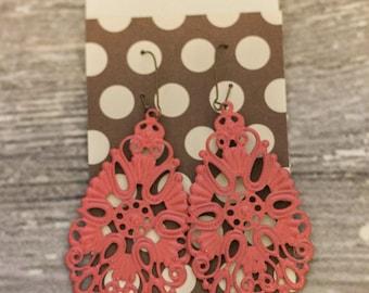 Hand Painted Earrings (Large Dew Drop)