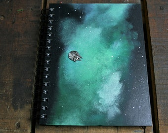 Star Wars Inspired BLANK A5 Hand Painted Hardback Notebook/ Sketch Book/ Journal / Guest Book
