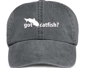 GOT CATFISH? Fishing Sport Baseball Style Cap Hat