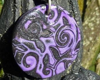 The volute Fimo pendant