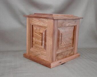 Adult Cremation Urn, Wood Urn, Butternut Full Size, Memory Box, Keepsake Vessel