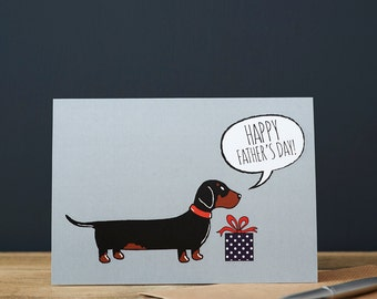 Dachshund / Sausage Dog Father's Day card