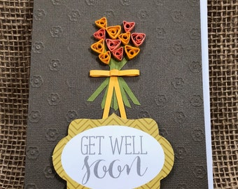 Get Well Soon Paper Quilled Card