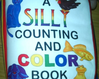 A Silly Counting and Coloring Book  Cloth Book  BK150089