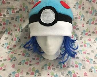 Great Ball from Pokemon Inspired Fleece Handmade Hat