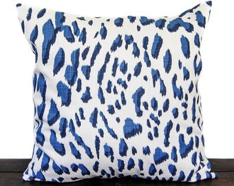 Decorative Pillow, Throw Pillow, Pillow Cover, Cushion, Blue White - Lawson Royal Blue Slub Canvas home decor