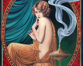 The Charms of Ishtar 11x14 Fine Art Print Pagan Mythology Art Nouveau Gypsy Witch Goddess Art