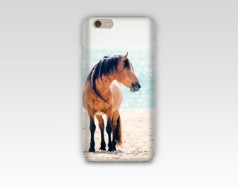 Horse Photograph Phone Case, iPhone 7 case, Samsung S7, iPhone 6, iPhone 5 case, Samsung S6 S5, Equine Photography, Horse on Beach, Ocean