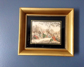 small framed art small oil painting signed art vintage