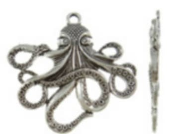 """1 large """"Octopus"""" Silver charm size 57.50 x 55 mm"""