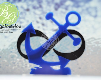 SALE Infinity Anchor Keepsake Topper, Navy Wedding, Infinity Symbol, Nautical Theme Wedding *Original Design*