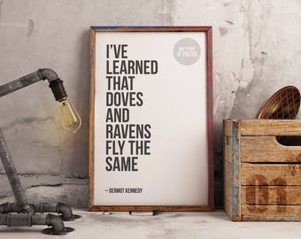 Glory Dermot Kennedy Poster - Doves And Ravens