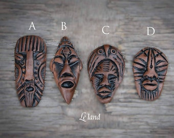 African Mask jewelry findings african tribal jewelry charm african face ethnic jewelry african mask jewelry making native american jewelry