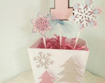 Winter One-derland Centerpiece, First Birthday Centerpiece, Table Topper