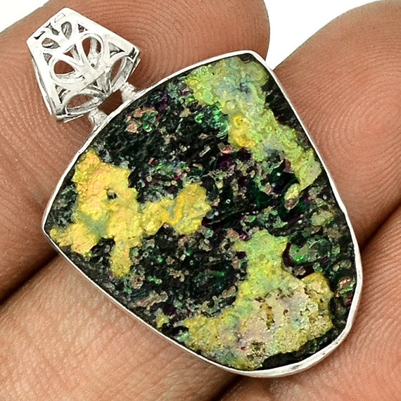 Ancient Roman Glass Sterling Silver pendant