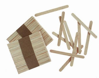 Wood Craft Sticks - Natural - 4.5 inches - 150 pieces,Unfinished Wood,Craft Supplies,Natural Wood, Popsicle Stciks ,Wood Sicks Supplies,