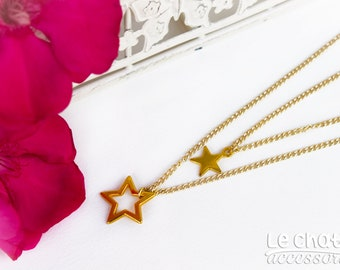 STAR NECKLACE, CHARM star necklace, Star jewelry, Layering necklace, Gold necklace, Layering chain necklace, Charm necklace, Gift for her