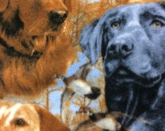 Fleece Dog Print Blanket