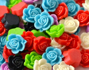 20 Pc. 15mm Rose Resin Cabochons