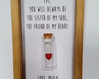 Step sister gift, Gift for step sister, Personalised step sister gift, Step Sisters, Soul sisters.  Add names or your own message.