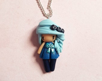 Necklace little girl blue collection (1)