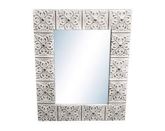 Large Snowflake 16 in. 22 in. Tin Mirror