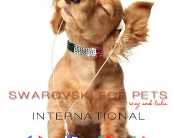 Swarovski Crystal International Dog collars - Designs in 7 sizes.