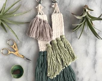 Zenia Necklace//Fiber Jewelry//Woven