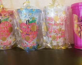 Custom tumbler cups with straw