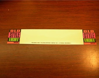 1990 G Heileman Old Style Light  Beer Marketing Promo