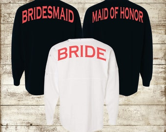 Bridal Party Spirit Shirt ~ Personalized Jersey ~ Bridesmaid Bride Shirt (BR021)
