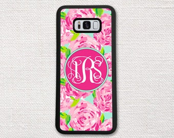 Floral Case For Samsung Galaxy S8, S7, S6, S5, S4, Phone Case, Wallet Case for Galaxy S7 Pink Roses Flowers 1180