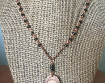 Disneyland Tomorrowland Pressed Penny Necklace